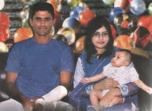 Abdul Razzaq with his wife