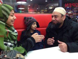 Saqlain Mushtaq with his family