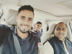 Faheem Ashraf with his family