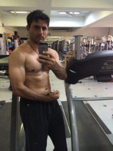 Abdul Razzaq at Gym