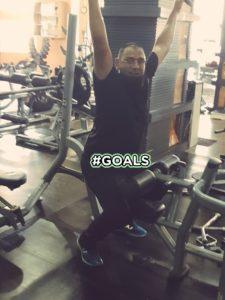 Saqlain Mushtaq at gym