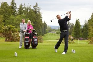 Andrew flintoff playing Golf
