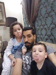 Umar Gul with his kids