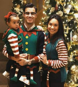 Philippe Coutinho with his family