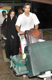 Salman Butt with his wife