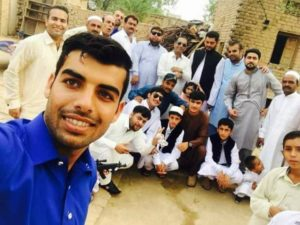 Shadab Khan with his family