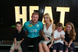 andrew flintoff with his wife and children