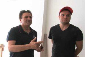 Abdul Qadir with his son Usman Qadir