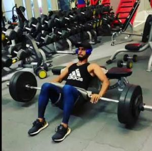 Hasan Ali at gym