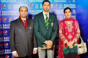 Junaid Khan with his parents