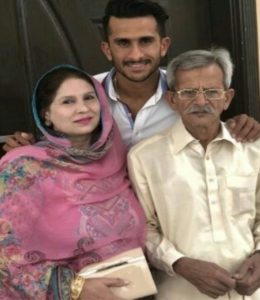 Hassan Ali with his family