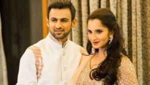 Shoaib malik with his wifw Sania Mirza
