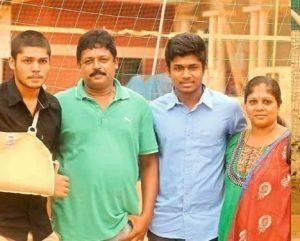 Sanju Samson family