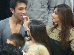 Azhar Mahmood with his wife