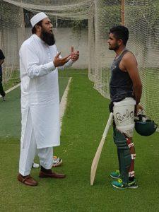 Inzamam ul haq with Babar Azam
