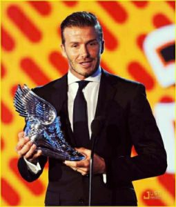 david beckham after won award