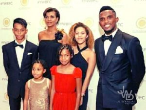samuel eto with his family