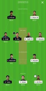 PF vs IND Dream11 Team for small league
