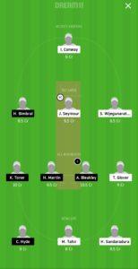 WCC vs PCC Dream11 Team for grand league