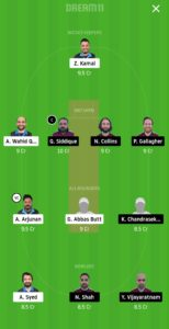 HCC vs SKK Dream11 Team for grand league