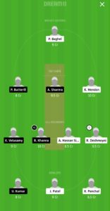 PCR vs BBCC Dream11 Team for grand league