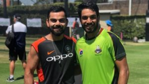 Haris Rauf with Virat Kohli