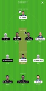 HCC vs ECC Dream11 Team for grand league