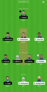 VCC vs GHG Dream11 Team for grand league