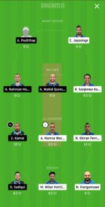 VCC vs GHG Dream11 Team for small league