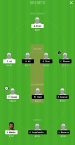 DPS vs SBK Dream11 Team for grand league