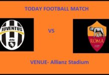 JUV VS ROM TODAY FOOTBALL MATCH