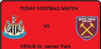 NEW VS WHU TODAY FOOTBALL MATCH