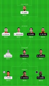 ROM VS INT DREAM 11 FOOTBALL TEAM