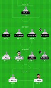 VER VS ATN DREAM11 FOOTBALL TEAM