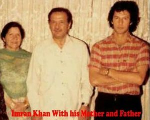 Imran Khan with his family