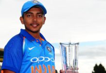 prithvi shaw indian cricketer