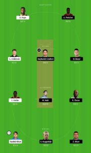 SLZ vs BAR Dream11 Team for small league