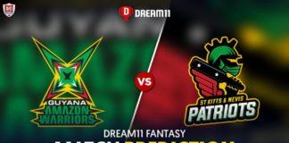 GUY vs SKN Dream11 Team Predictions CPL 2020 (100% Winning Team)
