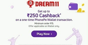 Dream11 phonepe offers