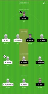 GHC vs GHG Dream11 Team for grand league