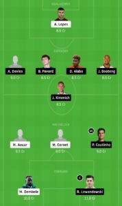 LYN VS BAY TODAY FOOTBALL DREAM11 TEAM