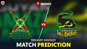 GUY vs JAM Dream11 Team Prediction 29th Match CPL 2021 (100% Winning Team)