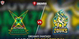 GUY vs SLZ Dream 11 Team Prediction CPL 2020 (100% Winning)