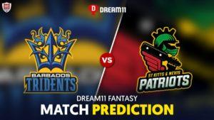 SKN vs BAR Dream 11 Team Prediction CPL 2020 (100% Winning)