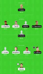 psg vs lep today football dream11 team
