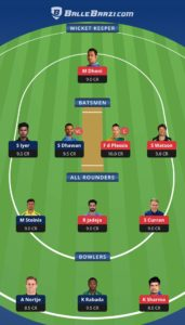 CSK vs DC Balebaazi Team For Grand League