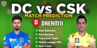 CSK vs DC Dream11 team
