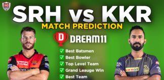 KKR vs SRH Dream11 team prediction