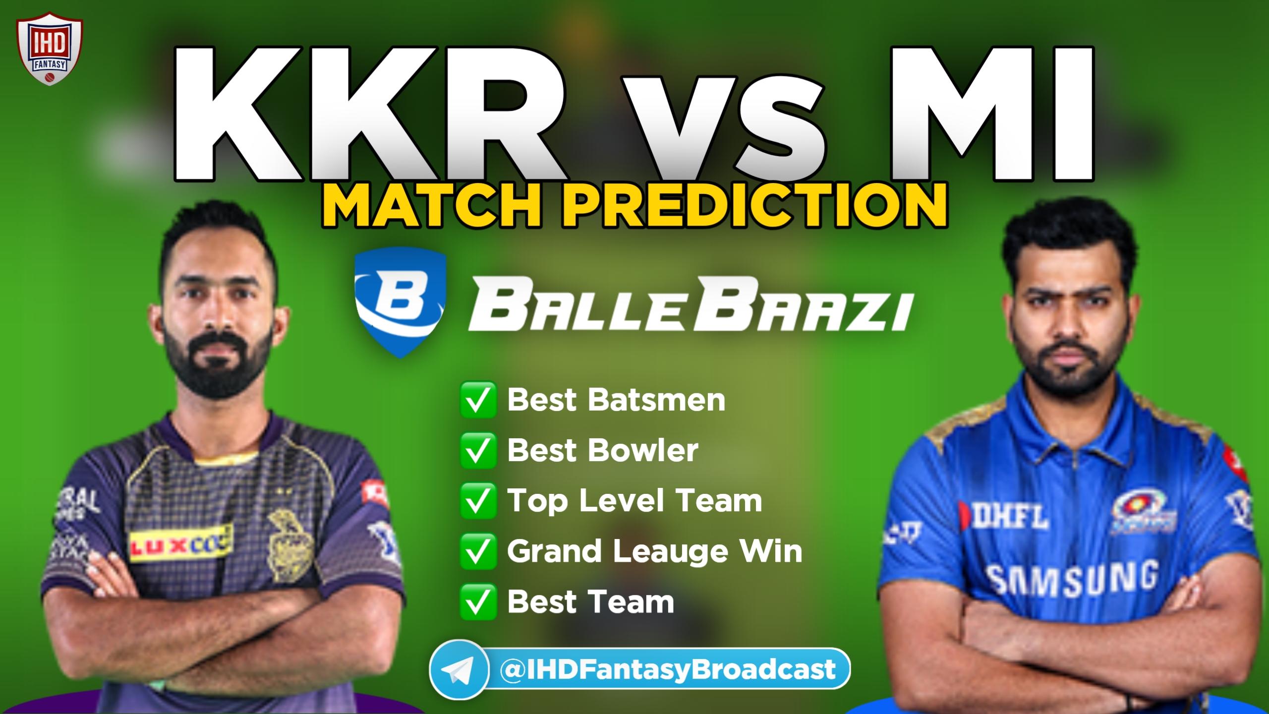 IPL 2020 - Match 5 KKR vs MI Ballebaazi ...