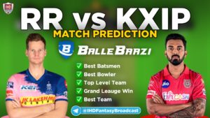 IPL 2020 - Match 9 RR vs KXIP Ballebaazi Team Prediction Today Match
